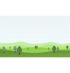 Flat design nature landscape with hill vector image