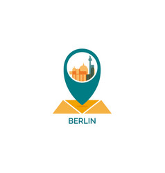 Germany berlin map pin point icon vector