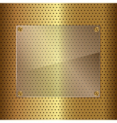 gold and glass vector image