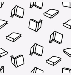 hand drawn books seamless with outlined pattern vector image