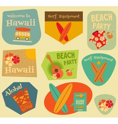 Hawaii Surf Stickers vector