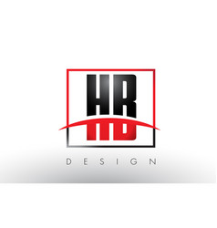 hb h b logo letters with red and black colors and vector image
