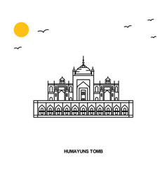 Humayuns tomb monument world travel natural vector