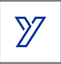 initials letter y mono line logo template vector image
