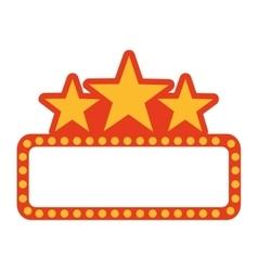 Label lights show cinema icon vector
