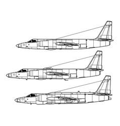 lockheed u-2 vector image