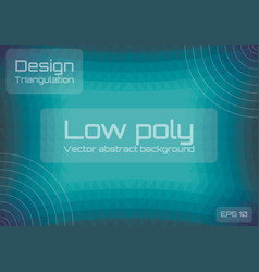 low poly green blue abstract background geometric vector image
