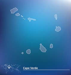 Map of Cape Verde vector image