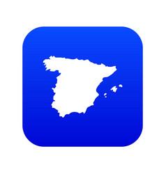 map spain icon digital blue vector image
