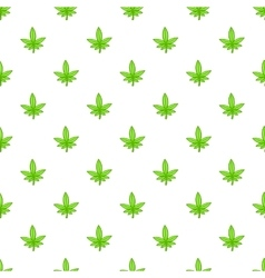 Marijuana leaf pattern cartoon style vector image