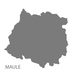 Maule chile map grey vector