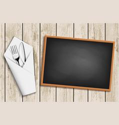 Menu on chalkboard vector