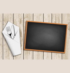 menu on the chalkboard vector image