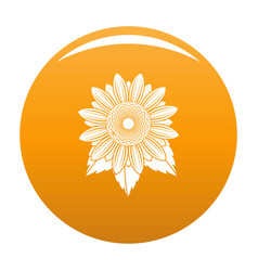 natural sunflower icon orange vector image