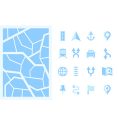 navigation road direction signs arrows point vector image
