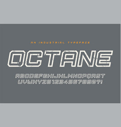 Octane display typeface font alphabet vector