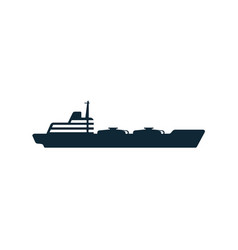 oil fuel tanker ship flat icon pictogram vector image