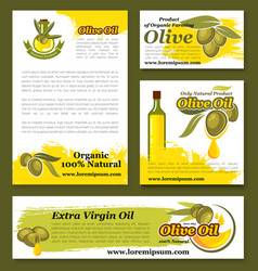 olives olive oil product templates set vector image