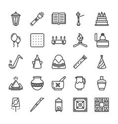 Pakistani culture icons vector
