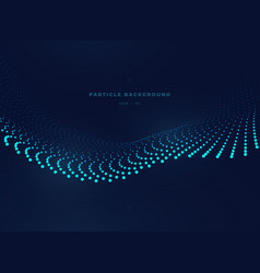 particle wave one vector image