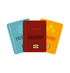 passports icon flat style vector image