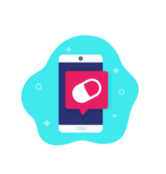 Pill reminder app icon vector