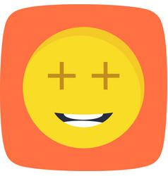 Positive emoji icon vector