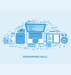 programming coding and seo web development vector image