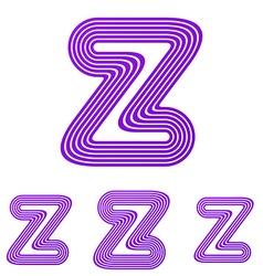 Purple z letter logo design set vector image