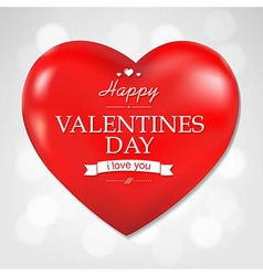 Red Heart Valentines Day And Bokeh Background vector