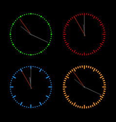 Round dials with arrows vector