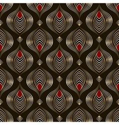 Seamless beautiful antique bronze pattern vector
