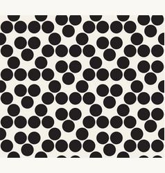 seamless geometric bold circles pattern simple vector image