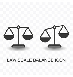 Set of law scale balance icon simple flat style vector