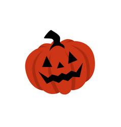 smiling halloween pumpkin logo icon template vector image