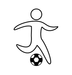 Soccer athlete silhouette icon vector
