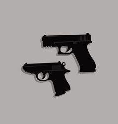 stylized drawing a pair pistols sidearm vector image