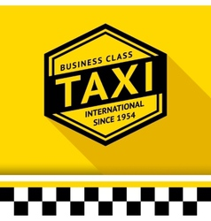 Taxi badge with shadow - 07 vector