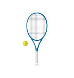 Tennis racquet with ball vector