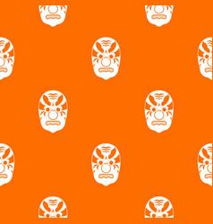 tribal mask pattern seamless vector image