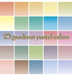 Twenty five blurred gradient background pastel vector