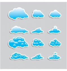 Universal icons clouds set vector
