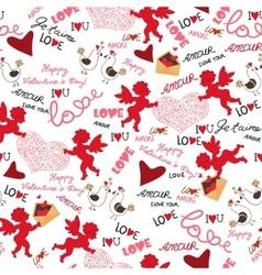 Valentine wallpaper Seamless Love Romantic vector image