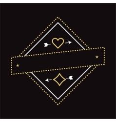 vintage cazino game logo design element vector image
