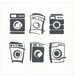 Washing machines vector image