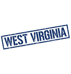 West virginia blue square stamp vector