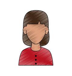 woman avatar portrait icon image vector image