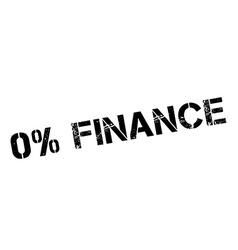 Zero percent finance black rubber stamp on white vector