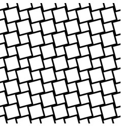 Black and white seamless square grid pattern - vector