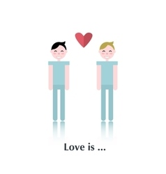 Gay couple icon vector image